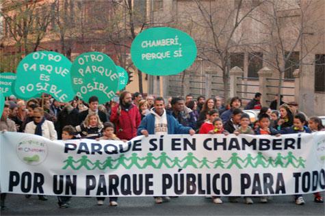 Manifestación POR UN PARQUE PUBLICO PARA TODOS